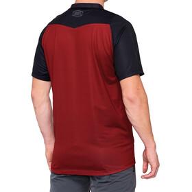 100% Celium Enduro/Trail Koszulka rowerowa z zamkiem błyskawicznym Mężczyźni, brick/black
